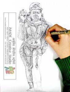 Stippling Artwork Technical pen drawing