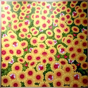 Canvas painting classes at iMADE. Size : 4 X 4 ft.