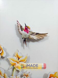 3D wall art – Detail;  Water colour on paper; Size – 4 X 3 ft.