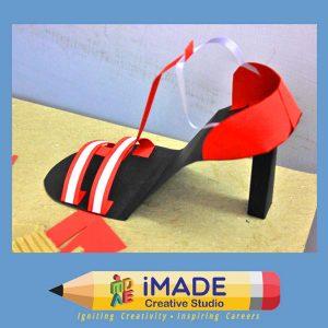Shoe model making.  Design model making classes for NID and NIFT.