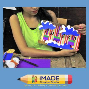 Fashion window display.  Model making classes at iMADE for NID and NIFT Entrance exam.