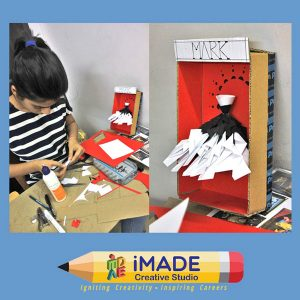 Fashion garment design. Paper model making for NIFT Situation test and NID DAT Mains test.