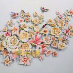 3D wall art; Water colour on paper; Size – 4 X 3 ft.