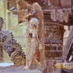 Indian Temple sculpture watercolour;Hyper Realistic watercolour;Size : 30 X 40 cm