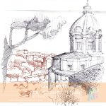 Nata sketching. Study of architectural masterpieces.