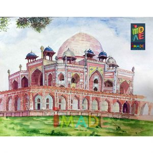 humayun's-tomb-live-watercolor-sketch-2