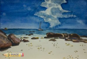 landscape-watercolour-painting-Sea-and-stone
