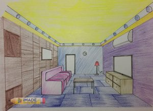 one-point-perspective-interior-drawing