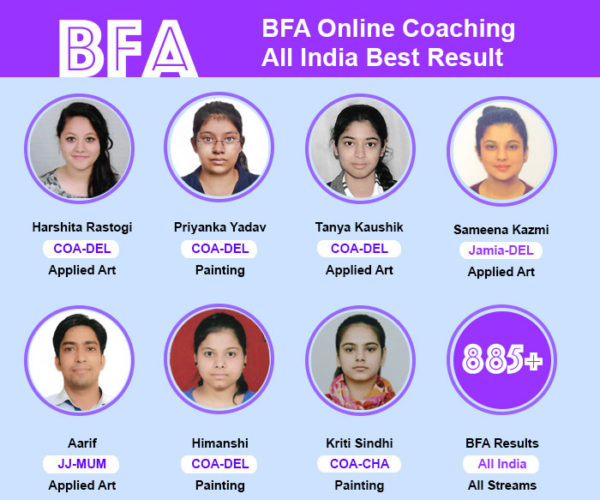 bfa-all-india-result, bfa entrance exam coaching
