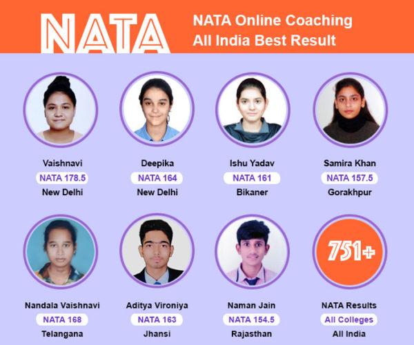 nata coaching all india result, nata online coaching